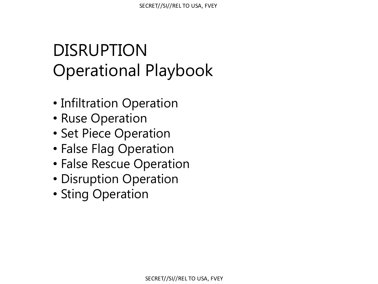 Disruption Tactics