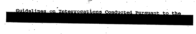 Redacted phrase describing authorization for torture