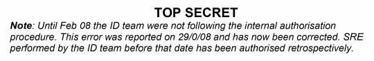 ID team not following internal authorization procedure