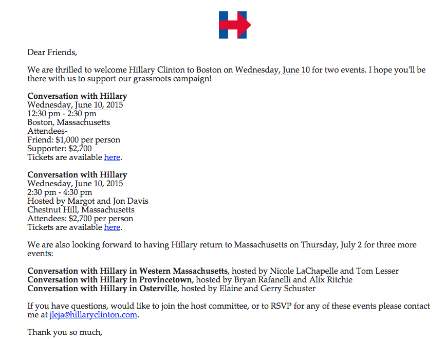 Hillary Clintons Grassroots Campaign Sets 1000 Minimum for a