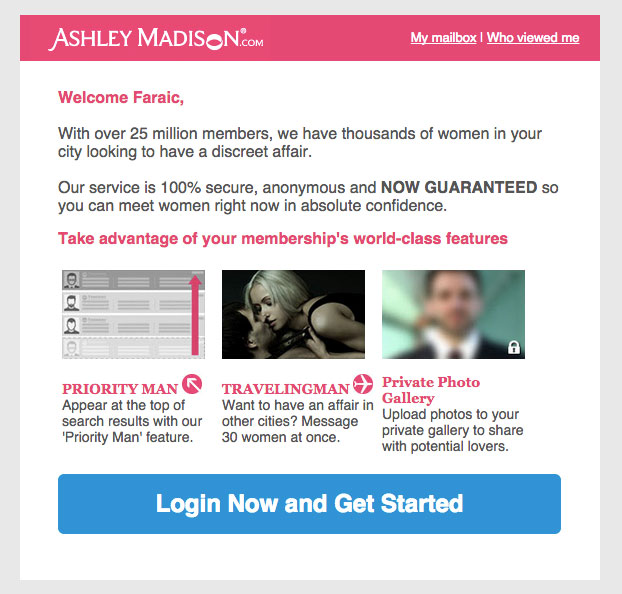 ashley madison email